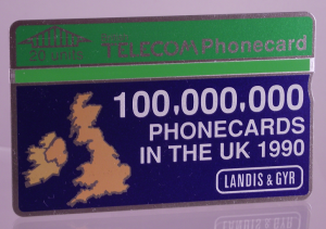 Optical phonecard (front)