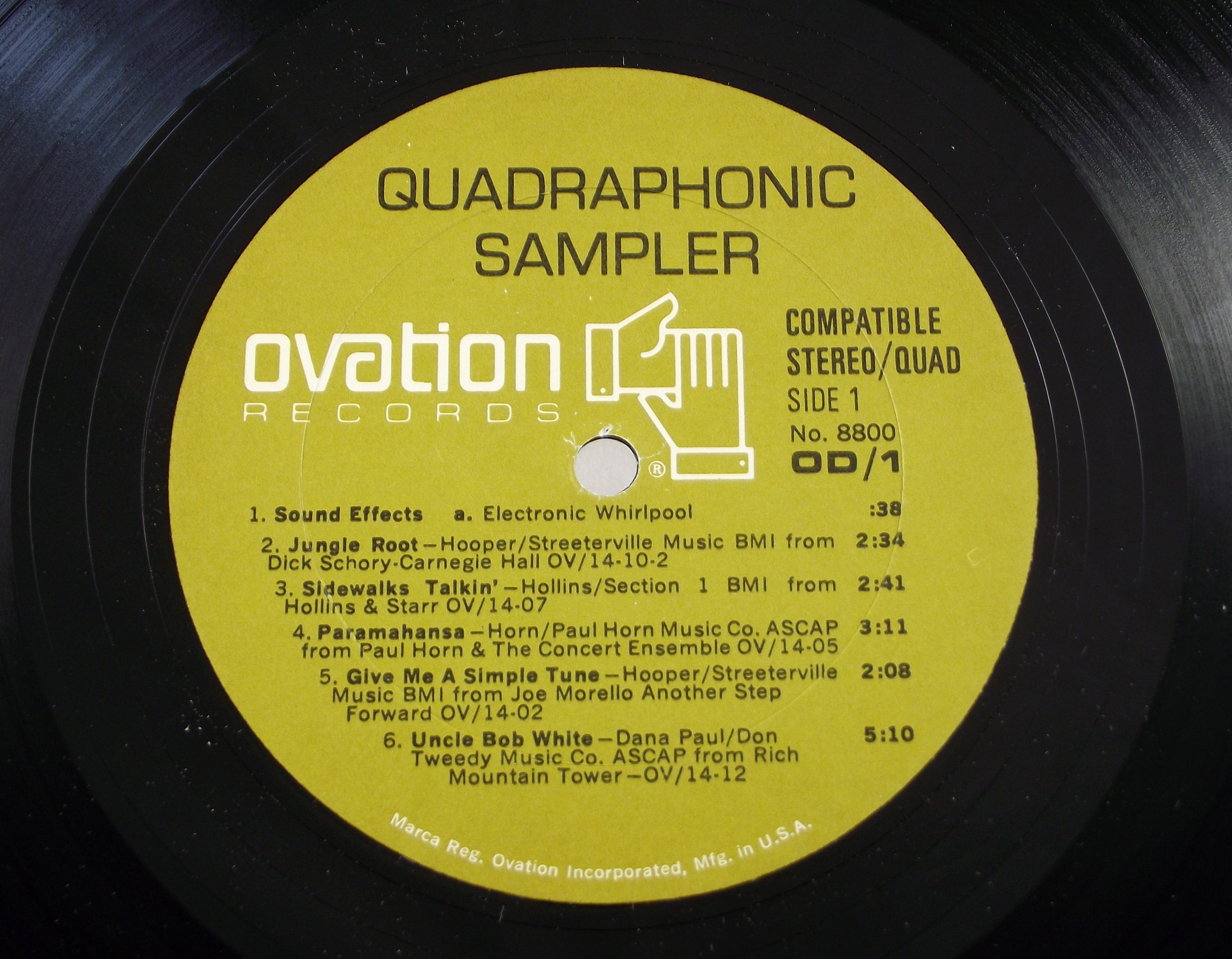 EV Stereo-4 quadraphonic record